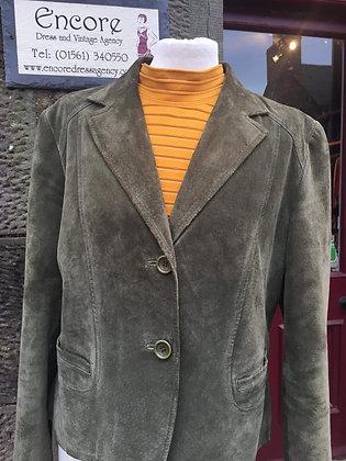 Sage Green Suede Jacket