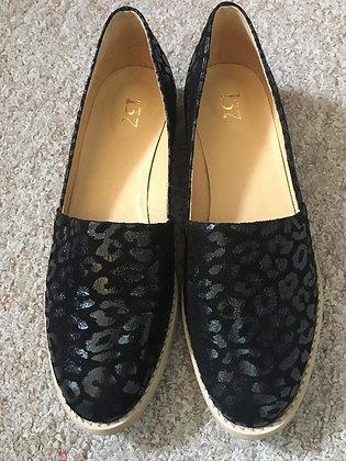 Black Velvet/Suede Leather Shoes
