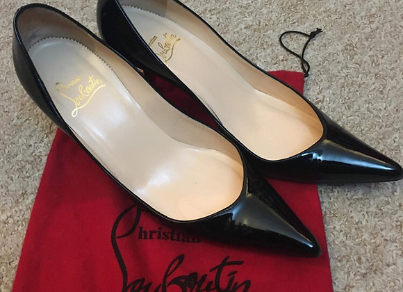 Black Patent Louboutin Heels