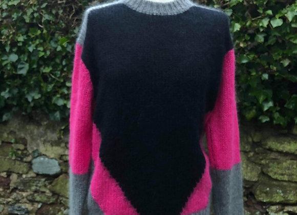 Mohair Block Colour Sweater