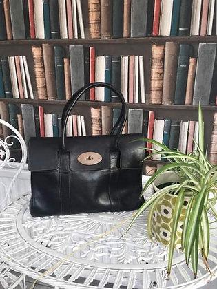 Black Leather Bayswater Handbag
