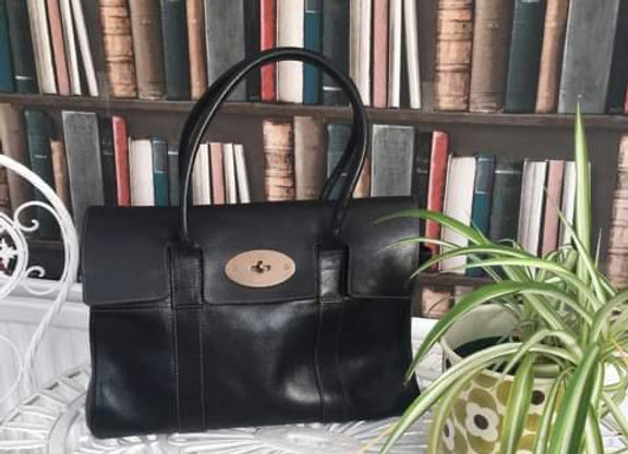 Black Leather Bayswater Handbag