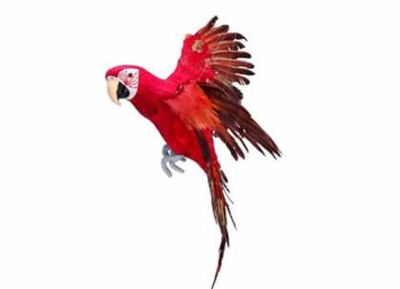 Red Feather Flying Parrot Ornament