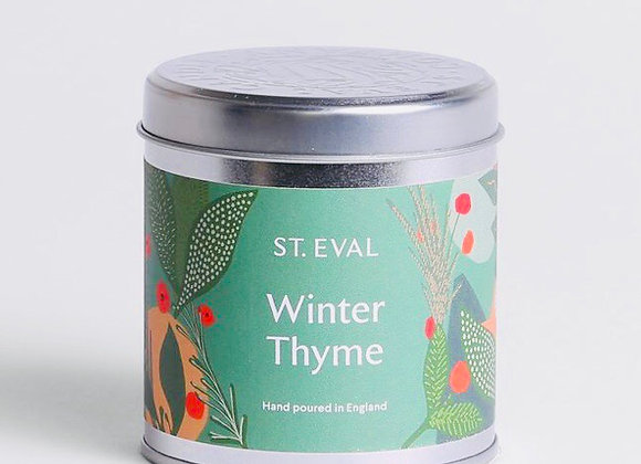 Winter Thyme Scented Tin Candle