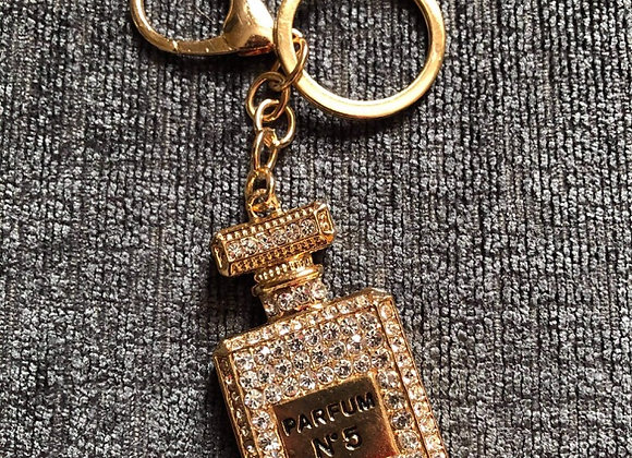 Chanel Style Key Ring