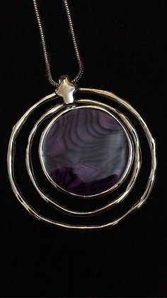 Purple Enamel Pendant