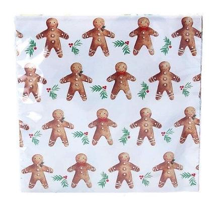 Gingerbread Man Paper Napkins