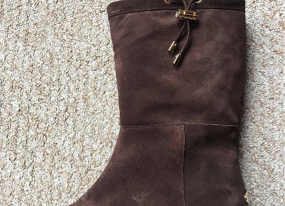 Chocolate Brown Designer Suede Boots
