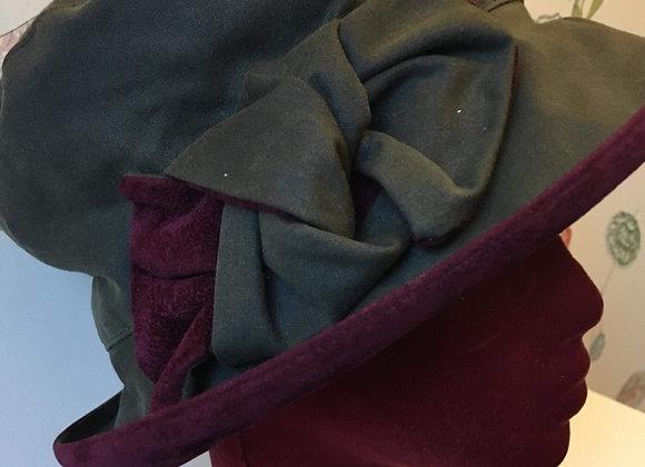 Velvet Trimmed Wax Hat