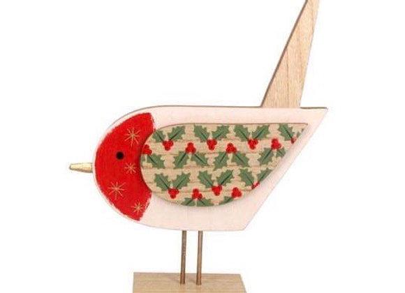 Wooden Cream Robin