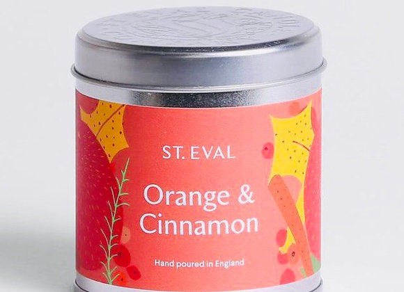 Orange and Cinnamon Scented Tin Candle