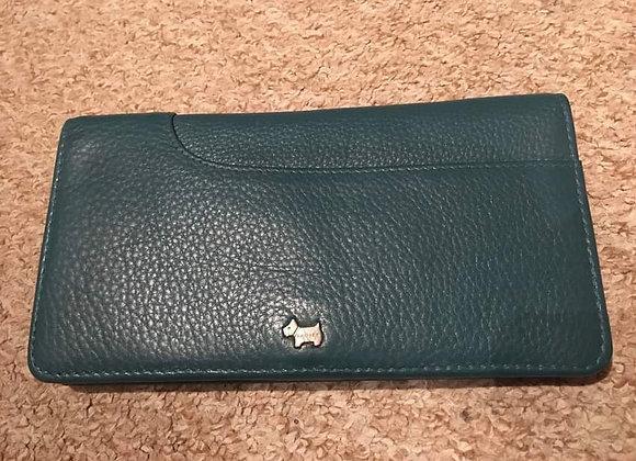Radley Teal Leather Wallet Purse