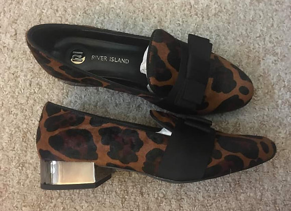 Leopard Style Print Loafers