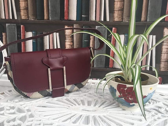 Leather Flap Handbag