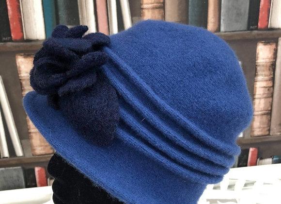 New Blue Felt Hat