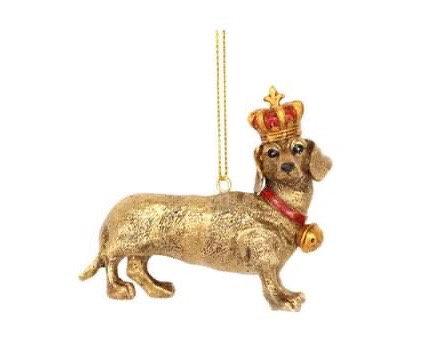 Gold Daschund Decoration