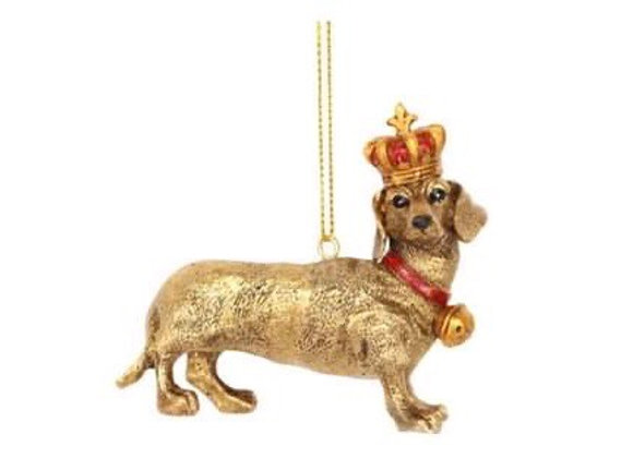 Gold Daschund Decoration