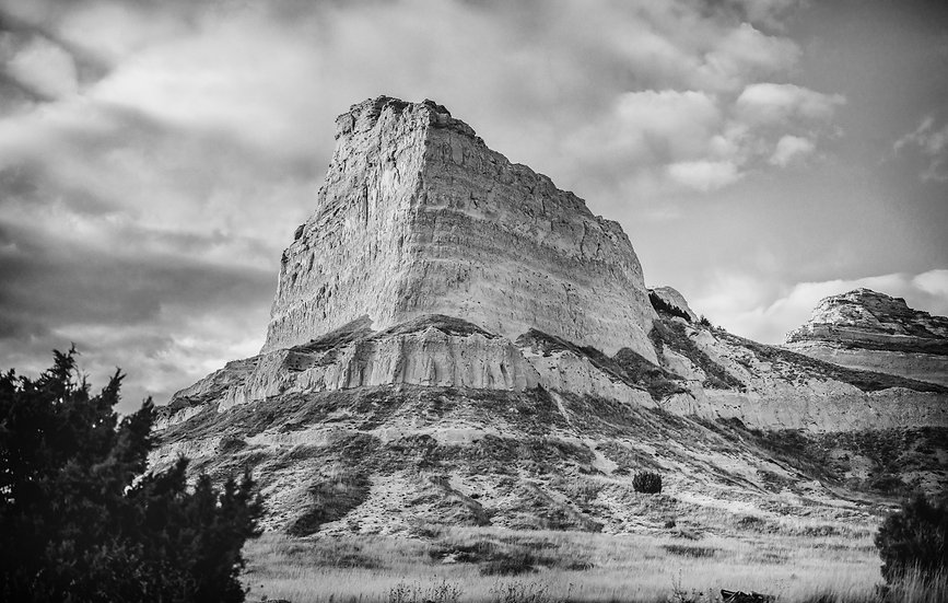 Scotts Bluff National Monument Black and White