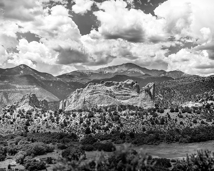 Garden of the Gods III -- Black and White