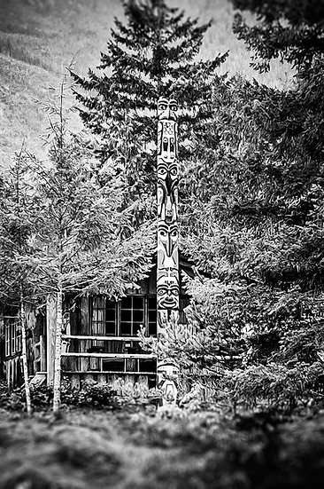 Sioux Totem 2003 Black and White