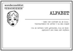 verwonderkaart Alfabet