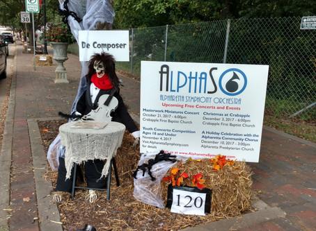 "The ""De-Composer"" a Hit at the Alpharetta Scarecrow Harvest."