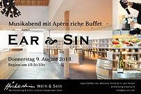 Flyer_Ear_Sin_Gig_Musik-Apéro_Donnersta