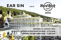 Flyer Ear Sin Gig Hard Rock Hotel