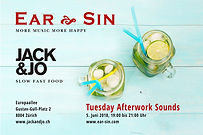Flyer Ear Sin Gig Jack and Jo Afterwork.