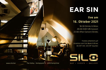 Flyer Ear Sin Gig Silo Bar