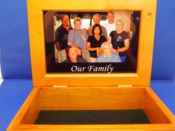 WOODEN KEEPSAKE BOX WITH 2 PHOTOS
