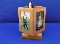 SPINNING FOUR SIDED PENCIL HOLDER