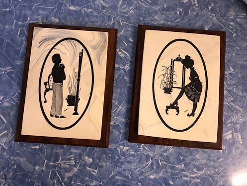 Set of Silhouette Plaques