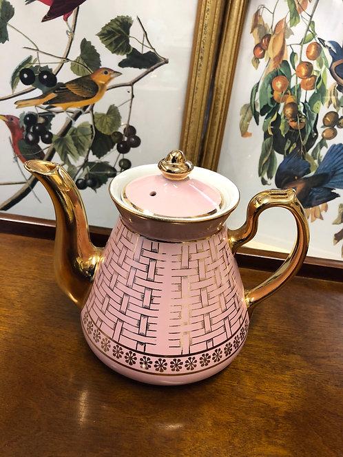 Hall Philadelphia Pink/Gold Teapot