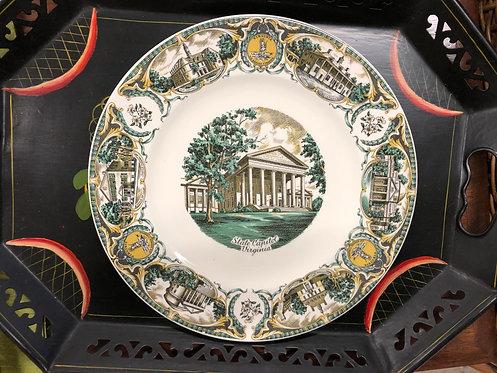 Capitol of Virginia Souvenir Plate
