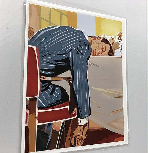 Tired Guy Print