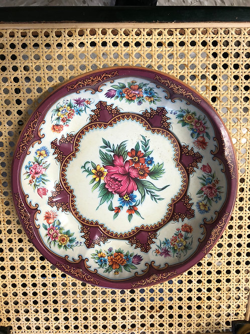 Floral Tin Plate