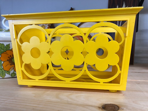 Vintage Yellow Plastic Container