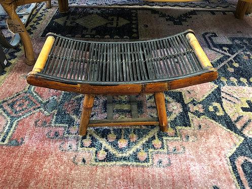 Vintage Asian Bamboo Stool