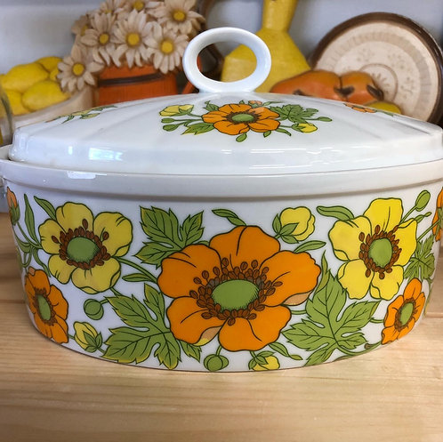 Flower Power Covered Casserole Dish