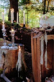 Woodland wedding venues cake