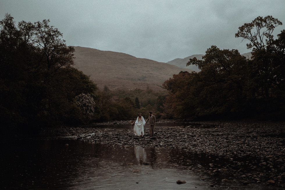 Elopement at St Mary's in the Scottish Highlands. Belle Art Photography
