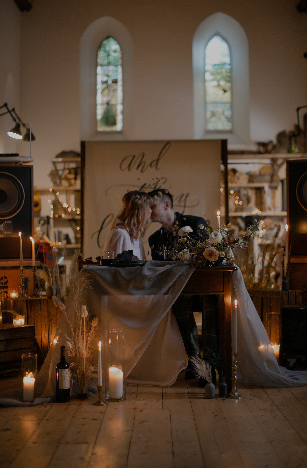 Addison & Connor's elopement at St Mary's in the Scottish Highlands. Melody Joy Photography