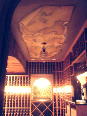 ceiling mural, mural,  decorative paintng ,  painted drapery, stunning illuions