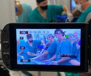 Primeiro caso ao vivo de fundoplicatura com uso do EsophyX é transmitido no IRCAD América Latina