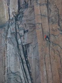 Climbing the East wall