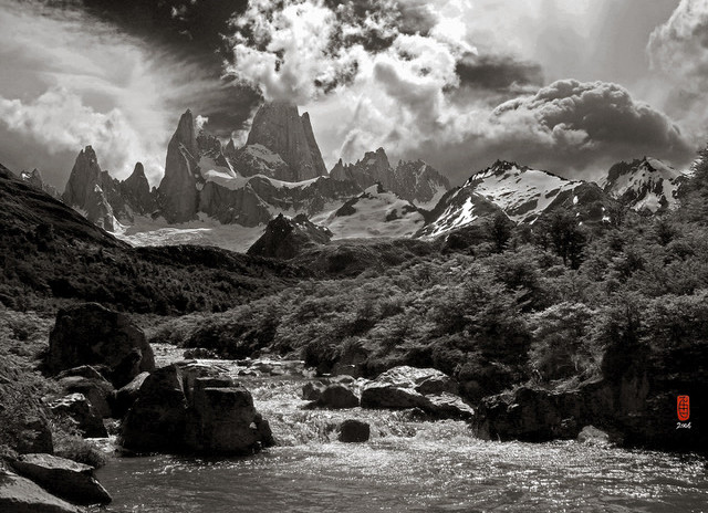 El Chalten in a Breaking Storm