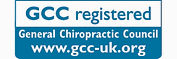 Seona our chiropractor is registered with the General Chiropractic Council