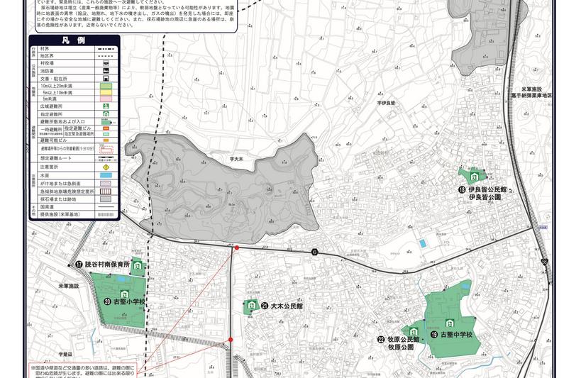 避難経路図(南部東地区)