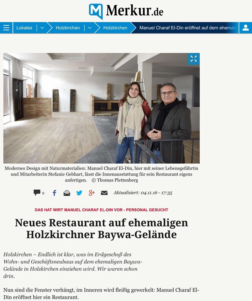 Merkur Artikel über Restaurant Terra